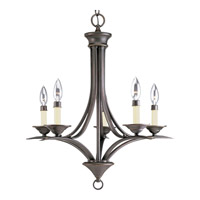 Trinity 5 Light 23 inch Antique Bronze Chandelier Ceiling Light