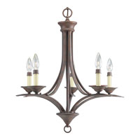 Progress Lighting Trinity 5 Light Chandelier in Cobblestone P4327-33