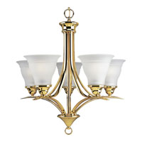 Progress Lighting Trinity 5 Light Chandelier in Polished Brass P4328-10