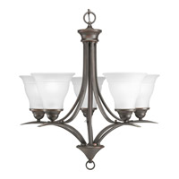 Progress P4328-20 Trinity 5 Light 23 inch Antique Bronze Chandelier Ceiling Light in Bulbs Not Included