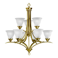 Progress Lighting Trinity 9 Light Chandelier in Polished Brass P4329-10 photo thumbnail