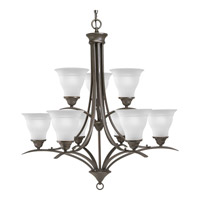 Progress P4329-20 Trinity 9 Light 30 inch Antique Bronze Chandelier Ceiling Light in Bulbs Not Included