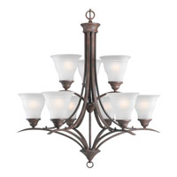 Progress Lighting Trinity 9 Light Chandelier in Cobblestone P4329-33