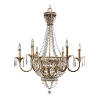 Progress P4338-63 Palais 9 Light 34 inch Imperial Gold Chandelier Ceiling Light photo thumbnail