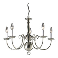 Americana 5 Light 24 inch Brushed Nickel Chandelier Ceiling Light