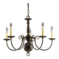 Progress P4346-20 Americana 5 Light 24 inch Antique Bronze Chandelier Ceiling Light