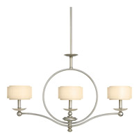 Ashbury 3 Light 36 inch Silver Ridge Linear Chandelier Ceiling Light