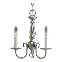 Americana 3 Light 13 inch Brushed Nickel Chandelier Ceiling Light