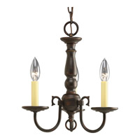 Americana 3 Light 13 inch Antique Bronze Chandelier Ceiling Light