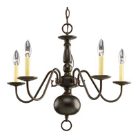 Progress P4355-20 Americana 5 Light 23 inch Antique Bronze Chandelier Ceiling Light photo thumbnail
