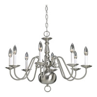 Progress Lighting Americana 8 Light Chandelier in Brushed Nickel P4357-09