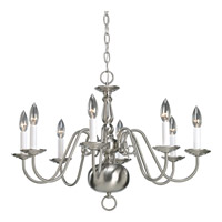 Progress P4357-09 Americana 8 Light 26 inch Brushed Nickel Chandelier Ceiling Light alternative photo thumbnail