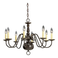 Progress P4357-20 Americana 8 Light 26 inch Antique Bronze Chandelier Ceiling Light