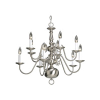Progress P4358-09 Americana 10 Light 26 inch Brushed Nickel Chandelier Ceiling Light alternative photo thumbnail
