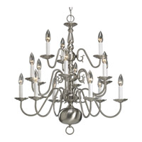 Progress Lighting Americana 15 Light Chandelier in Brushed Nickel P4359-09