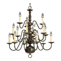 Americana 15 Light 26 inch Antique Bronze Chandelier Ceiling Light