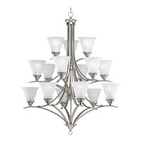 Progress Lighting Trinity 15 Light Chandelier in Brushed Nickel P4365-09EBWB