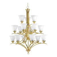 Progress Lighting Trinity 15 Light Chandelier in Polished Brass P4365-10 photo thumbnail