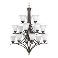 Progress P4365-20 Trinity 15 Light 41 inch Antique Bronze Chandelier Ceiling Light in Bulbs Not Included