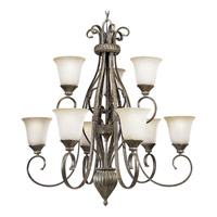 Progress Lighting Maison Orleans 9 Light Chandelier in Fieldstone P4375-87