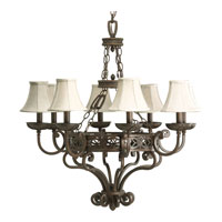 Progress Lighting Sanabria 8 Light Chandelier in Roasted Java P4382-102
