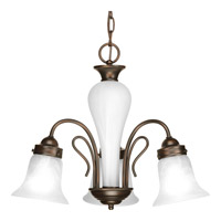 Progress P4390-20 Bedford 3 Light 20 inch Antique Bronze Chandelier Ceiling Light in Alabaster Glass