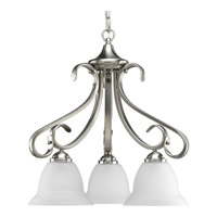 Progress Lighting Torino 3 Light Chandelier in Brushed Nickel P4405-09