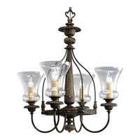 Progress Lighting Fiorentino 4 Light Chandelier in Forged Bronze P4407-77