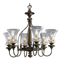 Progress Lighting Fiorentino 6 Light Chandelier in Forged Bronze P4409-77