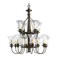 Progress P4411-77 Fiorentino 12 Light 33 inch Forged Bronze Chandelier Ceiling Light
