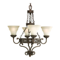 Progress Lighting Sanabria 4 Light Chandelier in Roasted Java P4412-102