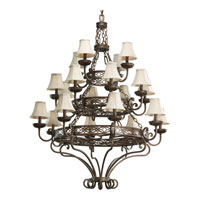 Progress Lighting Sanabria 20 Light Chandelier in Roasted Java P4414-102