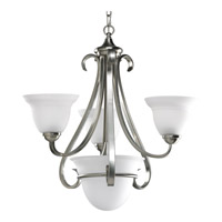 Progress Lighting Torino 3 Light Chandelier in Brushed Nickel P4415-09