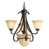 Progress P4415-77 Torino 3 Light 24 inch Forged Bronze Chandelier Ceiling Light in Tea-Stained photo thumbnail