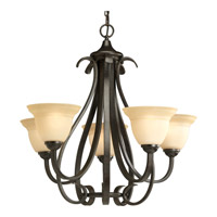 Progress P4416-77 Torino 5 Light 26 inch Forged Bronze Chandelier Ceiling Light in Tea-Stained photo thumbnail