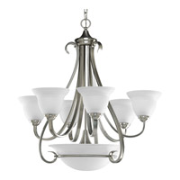 Torino 6 Light 29 inch Brushed Nickel Chandelier Ceiling Light in Etched