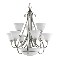 Torino 9 Light 32 inch Brushed Nickel Chandelier Ceiling Light in Etched