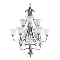 Progress P4419-09 Torino 12 Light 34 inch Brushed Nickel Hall & Foyer Ceiling Light in Etched