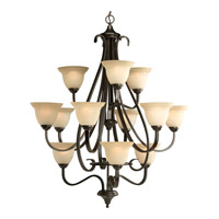 Progress P4419-77 Torino 12 Light 34 inch Forged Bronze Hall & Foyer Ceiling Light in Tea-Stained