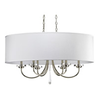 Progress Lighting Thomasville Nisse 6 Light Chandelier in Polished Nickel P4431-104