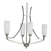Progress Lighting Wisten 4 Light Chandelier in Brushed Nickel P4435-09