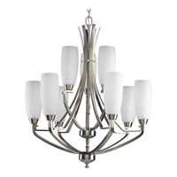 Progress Lighting Wisten 9 Light Chandelier in Brushed Nickel P4439-09
