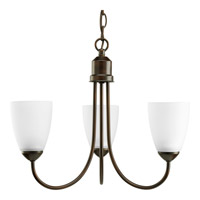 Gather 3 Light 19 inch Antique Bronze Chandelier Ceiling Light in Bulbs Included, Fluorescent