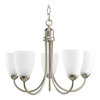 Gather 5 Light 21 inch Brushed Nickel Chandelier Ceiling Light in Bulbs Included, Fluorescent