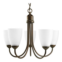 Progress P4441-20 Gather 5 Light 21 inch Antique Bronze Chandelier Ceiling Light in Bulbs Not Included