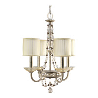 Progress Lighting Thomasville Chanelle 4 Light Chandelier in Antique Silver P4442-34