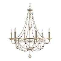 Progress Lighting Thomasville Chanelle 6 Light Chandelier in Antique Silver P4443-34