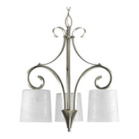 Progress Lighting Nicollette 3 Light Chandelier in Brushed Nickel P4448-09