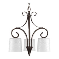 Progress Lighting Nicollette 3 Light Chandelier in Copper Bronze P4448-124