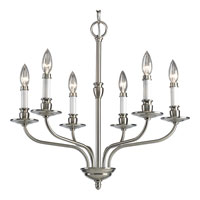 Progress Lighting Richmond Hill 6 Light Chandelier in Brushed Nickel P4449-09